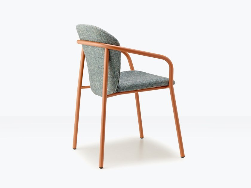Upholstered steel chair with armrests FINN by SCAB DESIGN