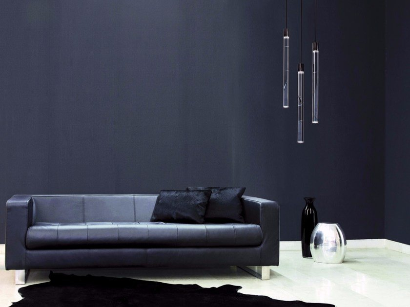 LED acrylic glass pendant lamp FIO by Sattler