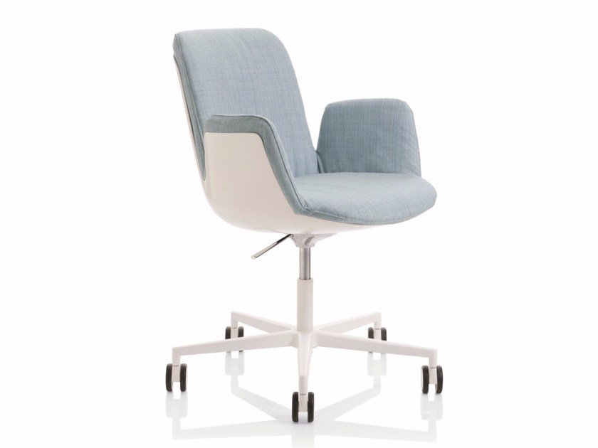 Height-adjustable task chair with 5-Spoke base with armrests FIOR DI LOTO | Task chair by Emmegi