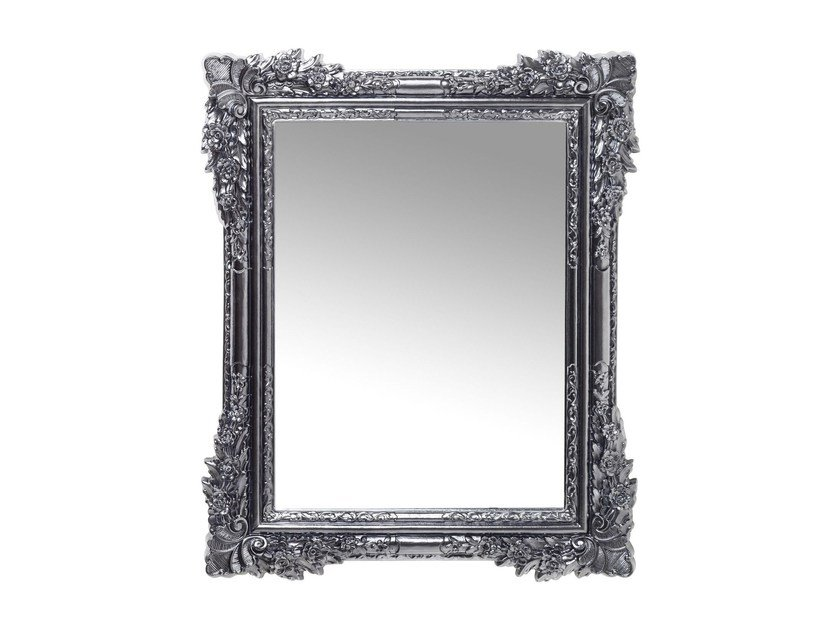 Rectangular wall-mounted framed mirror FIORE CHROME by KARE-DESIGN