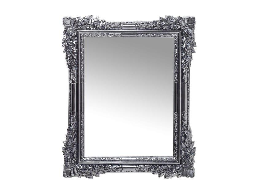 Specchio rettangolare a parete con cornice FIORE CHROME by KARE-DESIGN