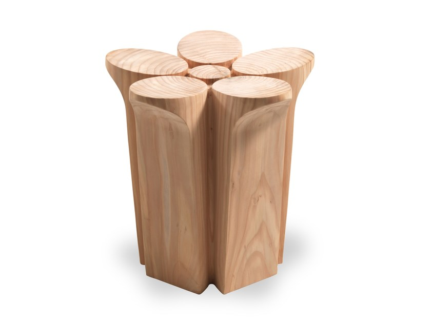 Cedarwood stool FIORE by Riva 1920