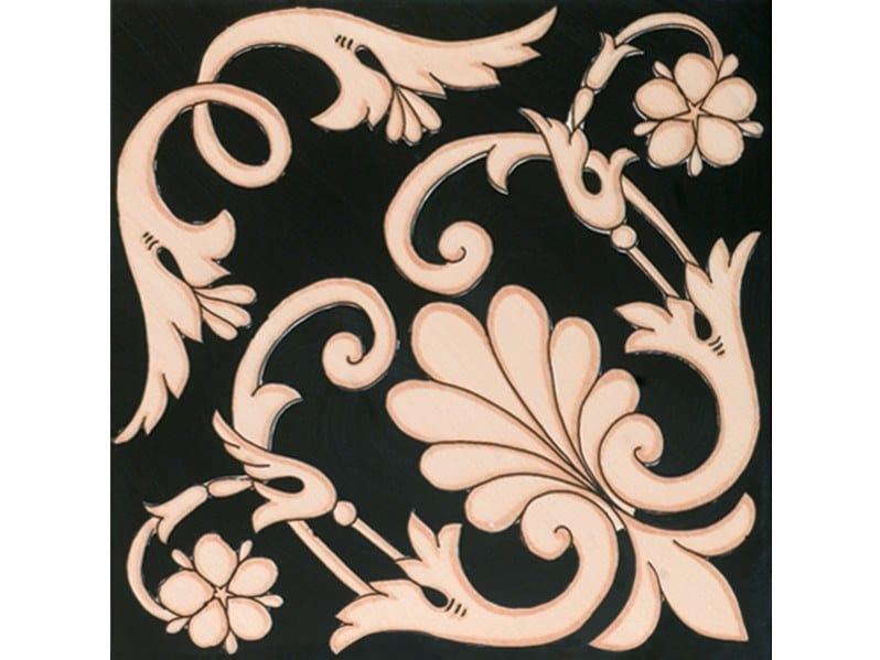 Ceramic wall tiles / flooring FIORI SCURI IERANTO NERO-AVANA by FRANCESCO DE MAIO