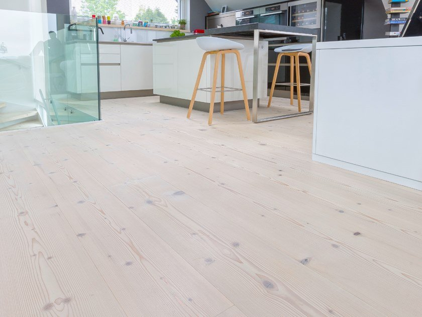 Fir flooring FIR WIDE-PLANK - LYE TREATED/ WHITE OIL by mafi