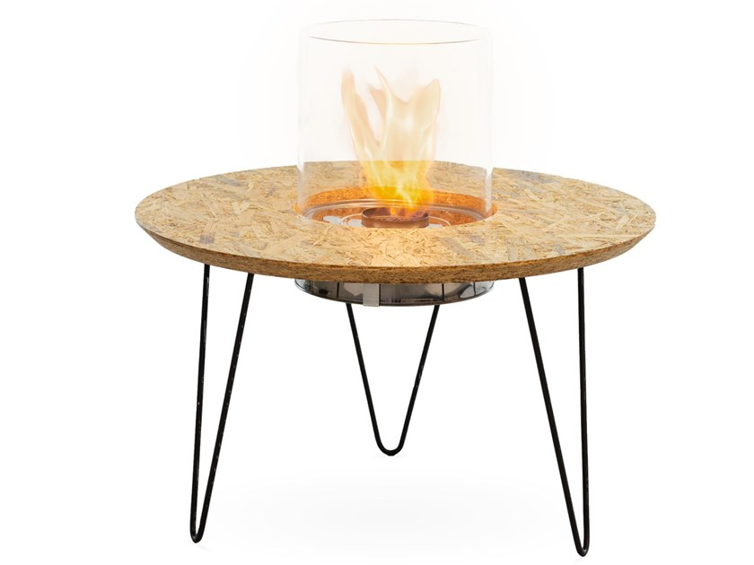 Fireplace / coffee table FIRE TABLE ROUND by Planika