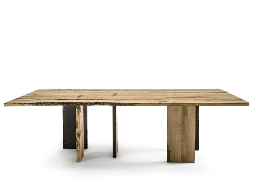 Rechteckiger Tisch aus Briccola-Holz FIRE | Tisch by Riva 1920