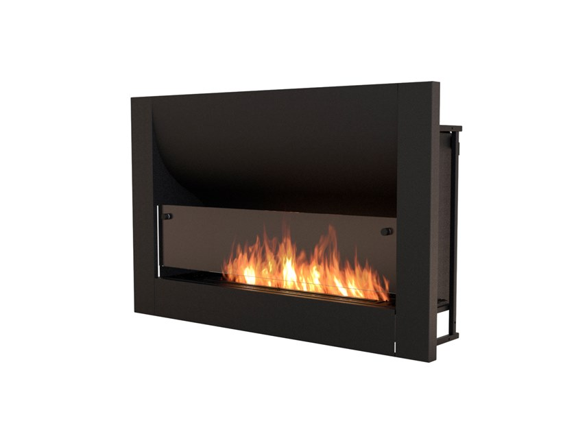 FIREBOX 1100CV Firebox 1100CV Curved Fireplace Insert Black by EcoSmart Fire
