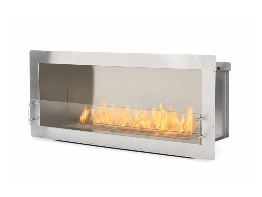 bioethanol glass and stainless steel fireplace insert firebox 1500ss rh archiproducts com fireplace insert firebox size wood burning fireplace firebox insert