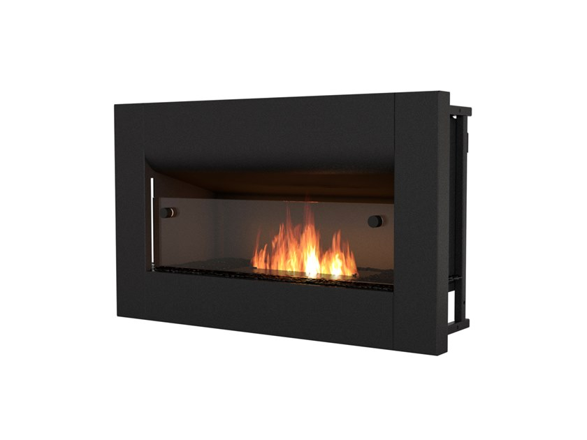 Built-in bioethanol steel fireplace with panoramic glass FIREBOX 650CV by EcoSmart Fire