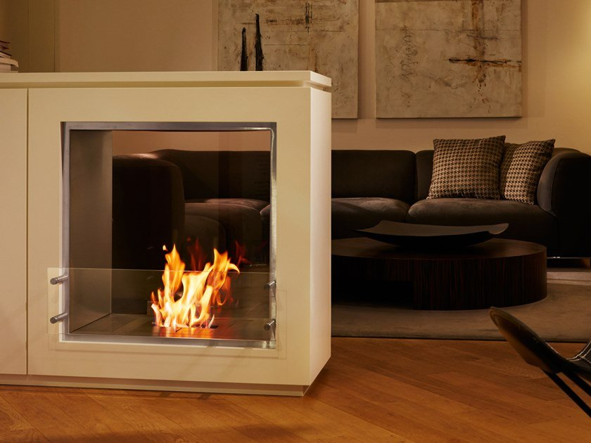 Bioethanol Double Sided Stainless Steel Fireplace Insert Firebox