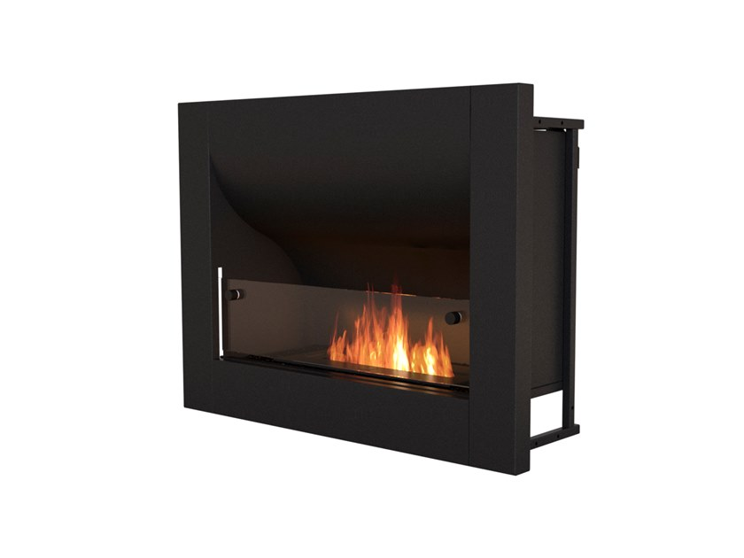 Built-in bioethanol steel fireplace with panoramic glass FIREBOX 720CV by EcoSmart Fire