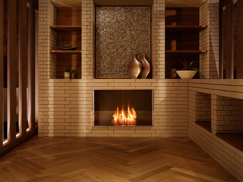Bioethanol Glass And Stainless Steel Fireplace Insert Firebox