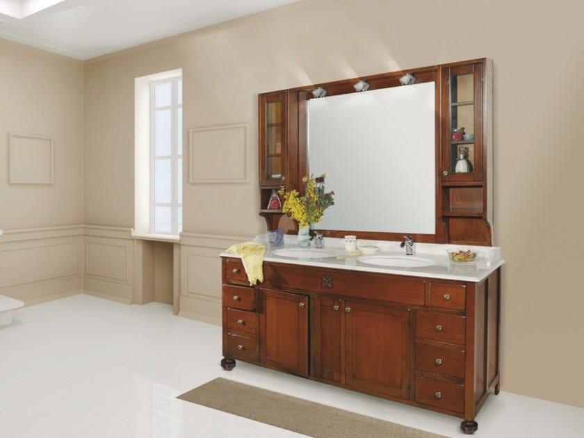 Double vanity unit with mirror FIRENZE CM01FI by LA BUSSOLA