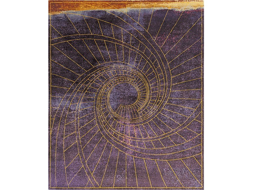 Handmade rectangular rug FIRENZE PORPORA by Tapis Rouge