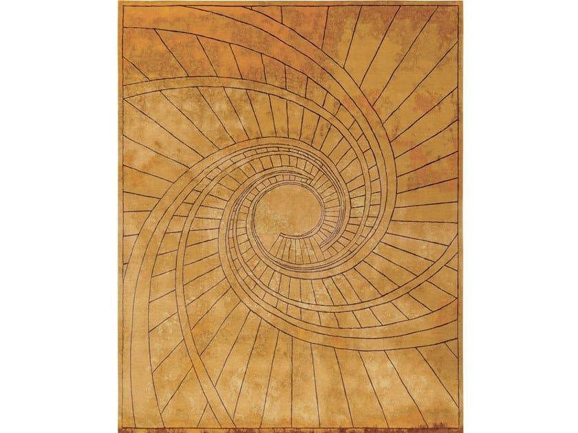 Handmade rectangular rug FIRENZE RUGGINE DELL`ORO by Tapis Rouge