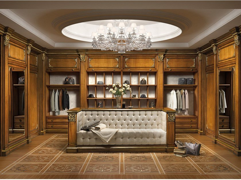 Classic style walk-in wardrobe FIRENZE | Walk-in wardrobe by Prestige