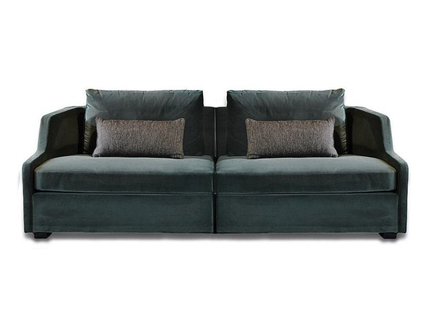 Upholstered Modular Velvet Sofa FIRST MODULARE By Gallottiu0026Radice