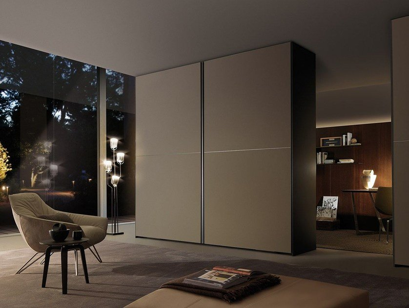 Etched glass wardrobe with sliding doors FIRST | Wardrobe with sliding doors by MisuraEmme