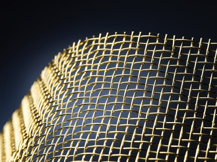 Brass Metal fabric and mesh FISH GOLD by MeshArt™