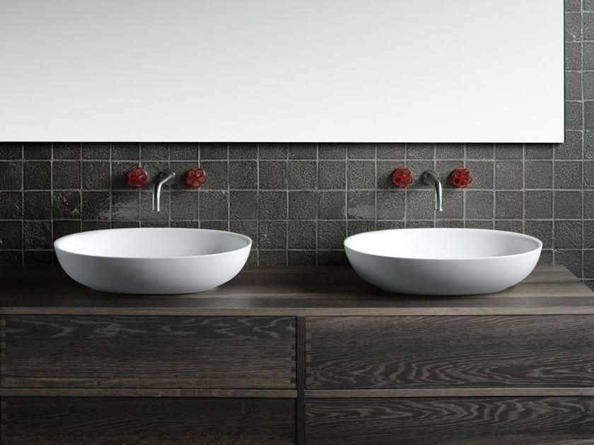 Vasca Da Bagno Boffi Prezzo : Lavabo da appoggio ovale in cristalplant design fisher island
