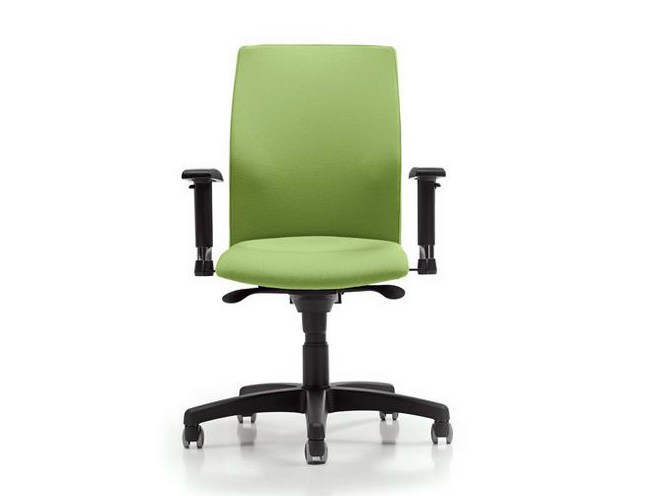 Task chair with 5-Spoke base with casters FIT | Task chair with casters by Diemme