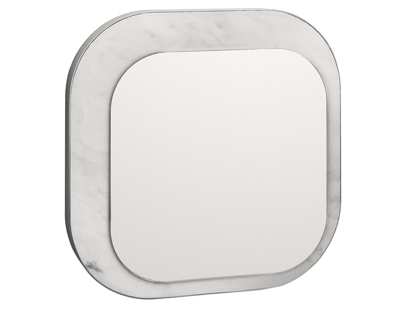 Square wall-mounted mirror FIVE.03 by OIA Design