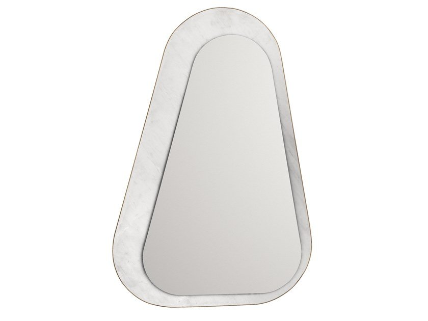 Framed wall-mounted mirror FIVE.04 by OIA Design
