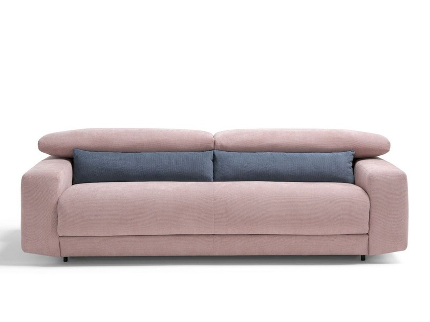 Fabric sofa bed with removable cover FIVE by Dienne Salotti