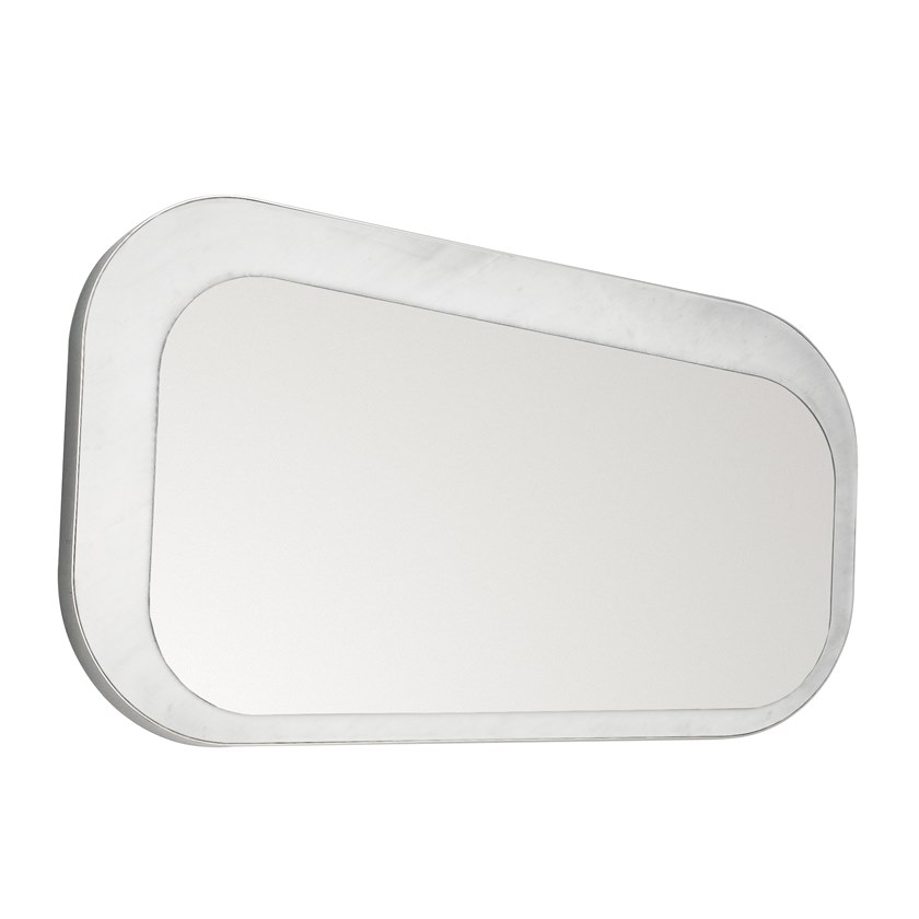 Rectangular wall-mounted mirror FIVE.01 by OIA Design