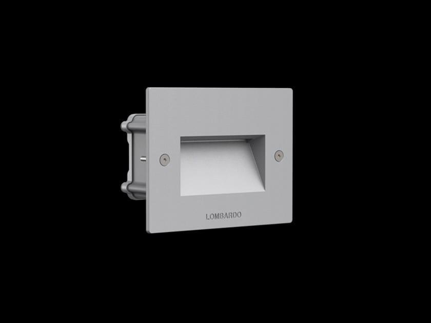 LED wall-mounted outdoor aluminium steplight FIX 503 by Lombardo