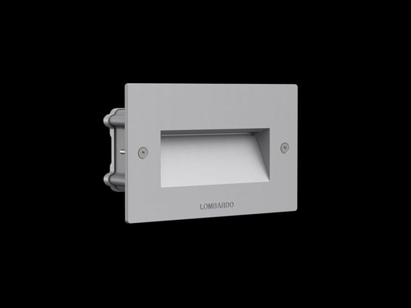 LED wall-mounted outdoor aluminium steplight FIX 504 by Lombardo