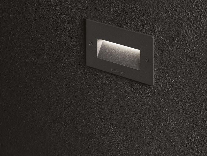 Plafoniere Da Esterno Lombardo : Segnapasso a led parete in alluminio per esterni fix lombardo