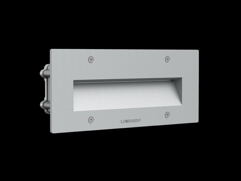 LED wall-mounted outdoor aluminium steplight FIX 506 by Lombardo