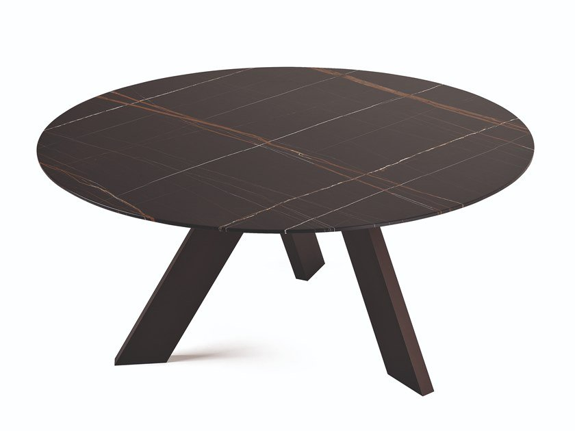 Round marble table FIX by Busnelli
