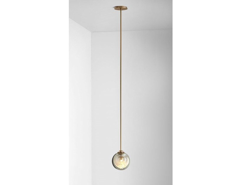 LED blown glass ceiling lamp FIZI SINGLE BALL | Ceiling lamp by Articolo Lighting