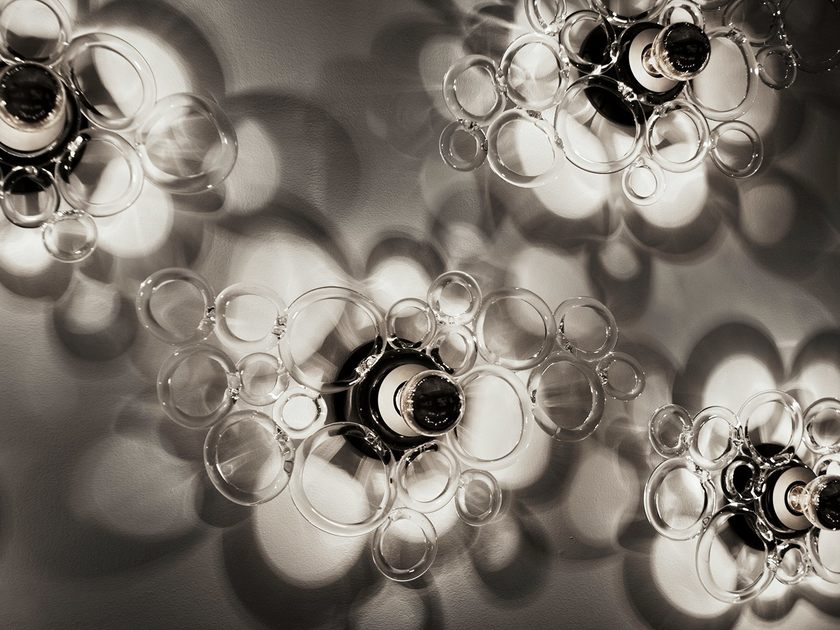 Blown glass wall lamp / ceiling lamp FIZZ SCONCE/CEILING by SkLO