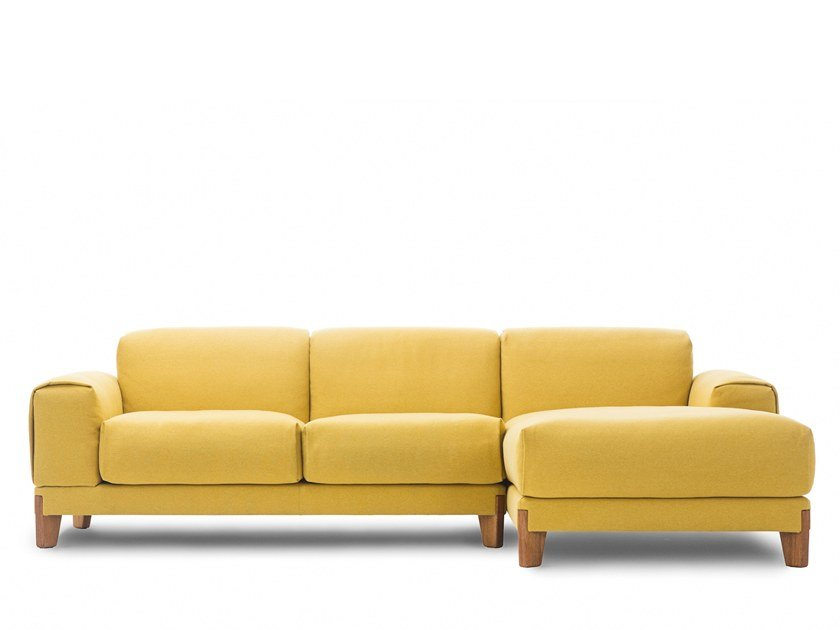 Modular fabric sofa with chaise longue FJORD | Fabric sofa by Extraform