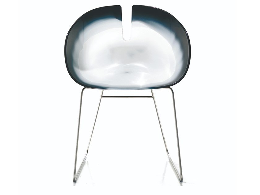 Sled base technopolymer chair FJORD H by Moroso