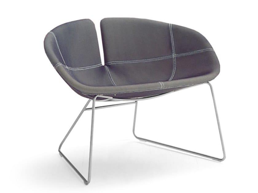 Sled base armchair FJORD   Sled base armchair by Moroso