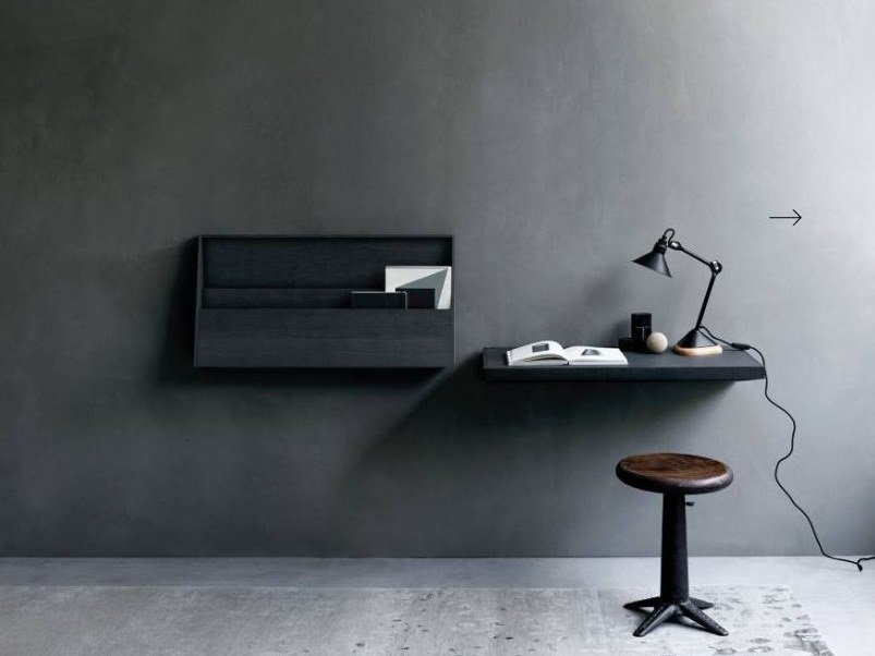 Wooden secretary desk / wall shelf FJU by Living Divani