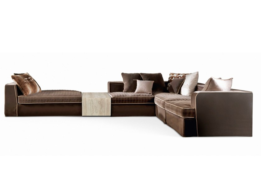 Corner Modular Velvet Sofa FLAIR | Modular Sofa By Gianfranco Ferré Home