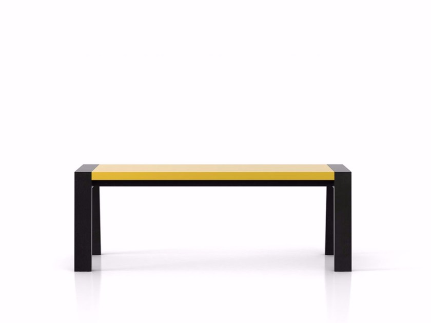 Wooden bench FLAK | Bench by Punt