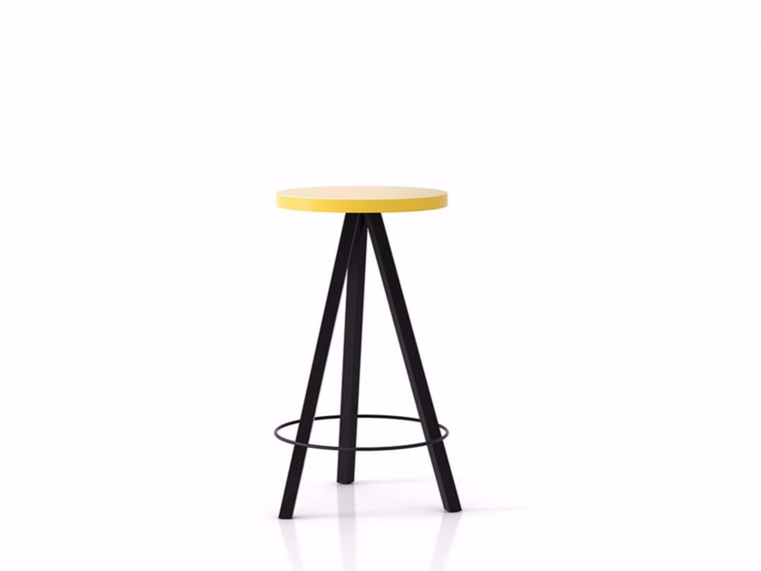 Solid wood high table FLAK | High table by Punt
