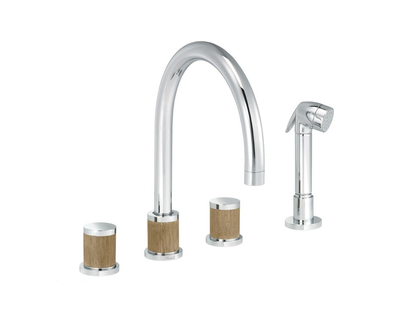 Countertop kitchen mixer tap with spray FLAMANT DOCKS | Kitchen mixer tap with spray by rvb
