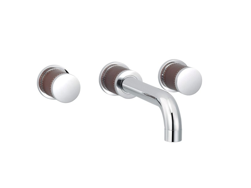 3 hole wall-mounted washbasin mixer FLAMANT DOCKS | Wall-mounted washbasin mixer by rvb