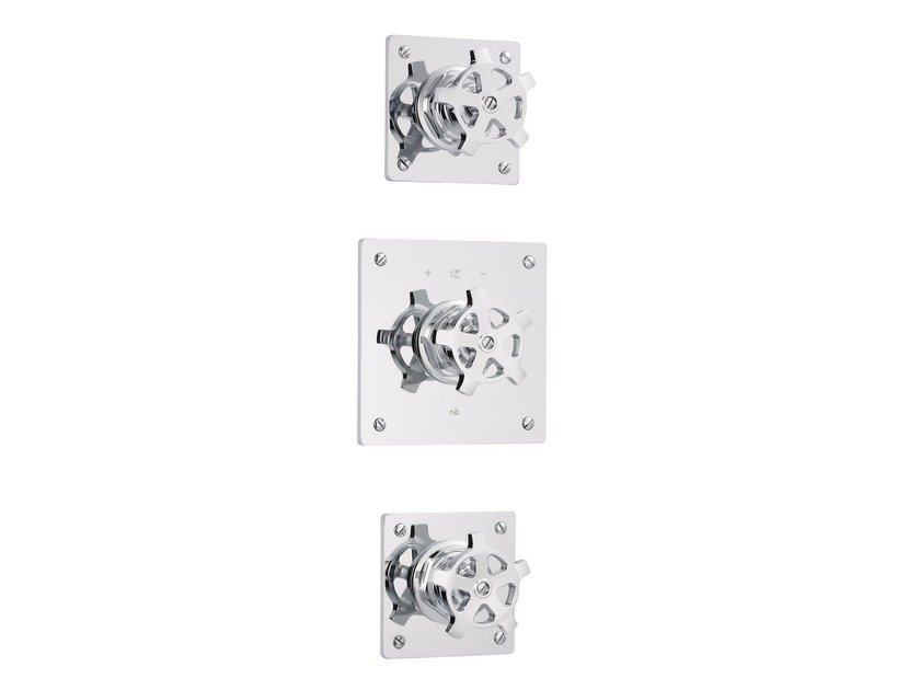 3 hole thermostatic shower mixer with individual rosettes FLAMANT FACTORY | 3 hole thermostatic shower mixer by rvb