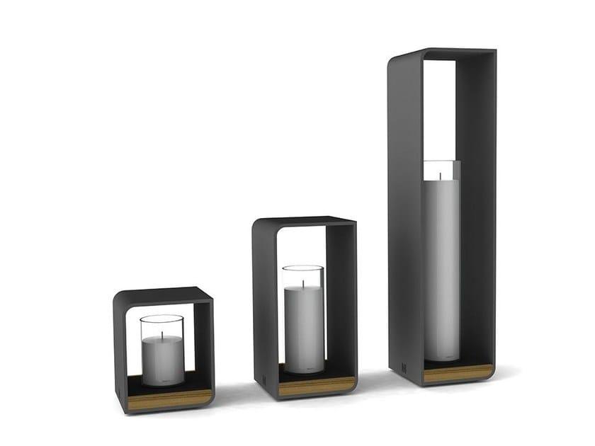 Powder coated aluminium candle holder FLAME | Candle holder by MANUTTI
