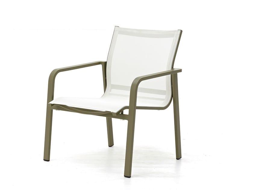 Garden armchair with armrests FLAMINGO | Garden armchair by Kun Design