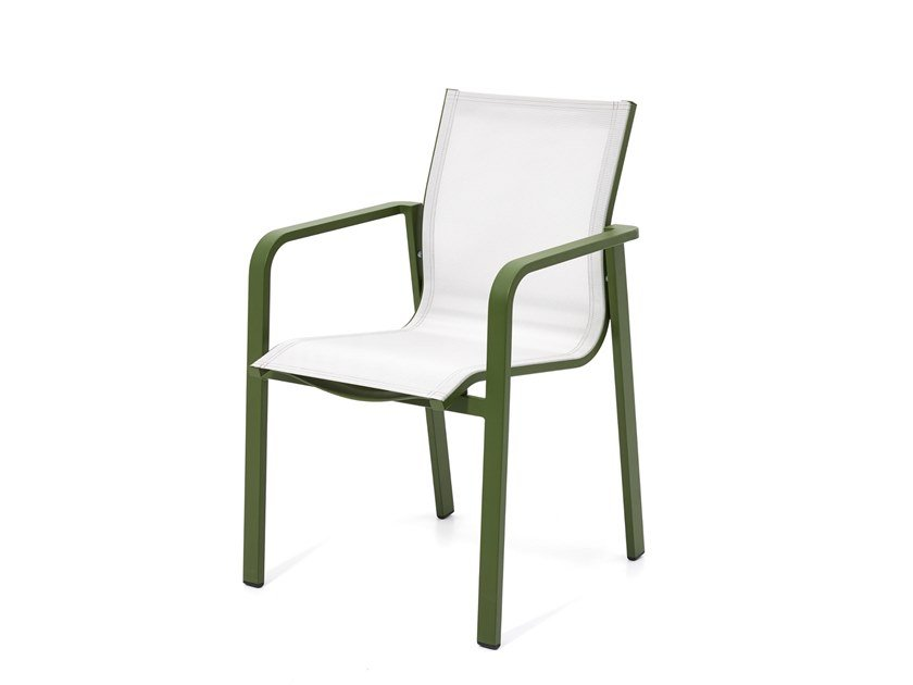 Stackable garden chair with armrests FLAMINGO | Chair with armrests by Kun Design
