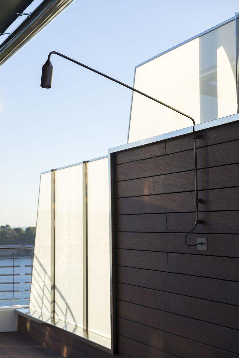 Lampade Per Porticati Esterni lampada da parete per esterno a led in alluminio flamingo